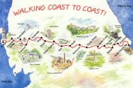 Walking Coast to Coast! Large Picture Magnets