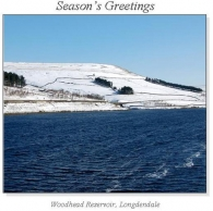 Woodhead Reservoir, Longdendale Christmas Square Cards