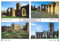 Abbeys of Yorkshire postcards