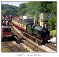 North York Moors Railway Square Cards