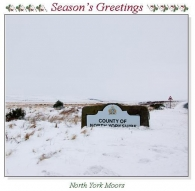 North York Moors Christmas Square Cards